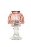 De antieke lamp van de glaskaars Stock Foto