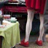 De antieke markt in de Spitalfields-markt wordt traditioneel gehouden op Donderdagen Royalty-vrije Stock Afbeelding
