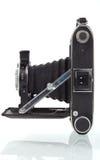 De antieke Middelgrote Camera van het Formaat in Profiel Royalty-vrije Stock Foto