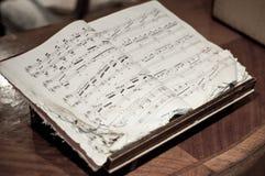 De antieke Muziek van het Blad Stock Foto's