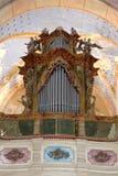 De antieke organen van de kerkpijp royalty-vrije stock afbeelding