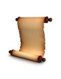 De Antieke Rol van het document Stock Foto