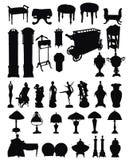 De antieke Silhouetten van Objecten Royalty-vrije Stock Afbeelding