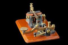 De antieke Sleutel van Morse Royalty-vrije Stock Afbeeldingen