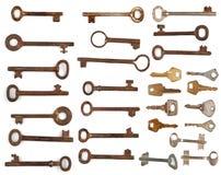 De antieke sleutels van de inzameling Stock Foto's