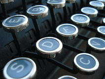 De antieke Sleutels van de Schrijfmachine Stock Foto