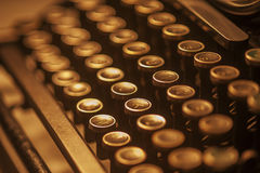 De antieke Sleutels van de Schrijfmachine Royalty-vrije Stock Foto's