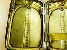 De antieke stevige zilveren cobra van het sigaretgeval Royalty-vrije Stock Foto
