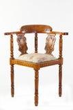 De antieke stoel van de 19de eeuw fruitwood Kapiteins of hoekstoel Royalty-vrije Stock Afbeeldingen