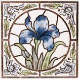 De antieke tegel van de Jugendstil royalty-vrije stock afbeeldingen