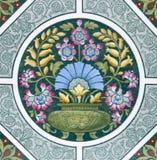De antieke tegel van Kunsten & van Ambachten royalty-vrije stock afbeelding