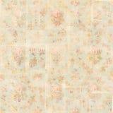 De antieke Uitstekende achtergrond van stijl botanische roze bloemenrozen Stock Fotografie