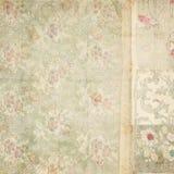 De antieke uitstekende bloemenachtergrond van de behangcollage Stock Afbeelding