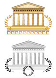 De antieke Voorzijde van de Tempel Stock Foto's