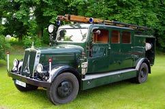 De antieke Vrachtwagen van de Brand royalty-vrije stock afbeelding