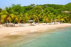 De Antigua, de Caraïbische eilanden, de Engelse Haven en Nelson ` s dokken werf Stock Foto