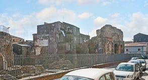 De antika gränsmärkena av Catania Royaltyfria Foton