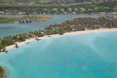De Antillen, de Caraïben, Antigua, Mening over Jolly Harbour Stock Fotografie