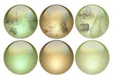 De antiquiteit die pearlized knopen eruit ziet royalty-vrije illustratie