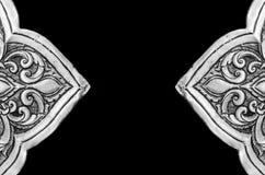 De antiquiteit graveerde zilver, kan als decoratie Thailand voor worden gebruikt stock afbeeldingen