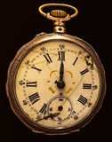 De antiquiteit rotte geïsoleerd zakhorloge royalty-vrije stock foto's