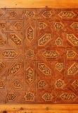 De antiquiteit sneed houten ornament in Alhambra royalty-vrije stock afbeelding