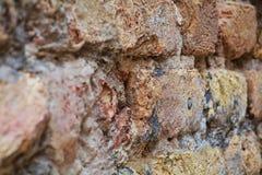De antiquiteit vage baksteenbouw, in Venetië, Italië royalty-vrije stock foto's