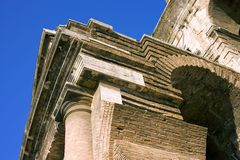 De antiquiteit van Coliseum amphitheatre Rome Italië Royalty-vrije Stock Afbeelding