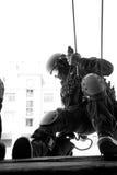 De antiterroristenpolitie van de onderverdeling. Royalty-vrije Stock Afbeeldingen