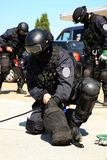 De antiterroristenpolitie van de onderverdeling Stock Fotografie