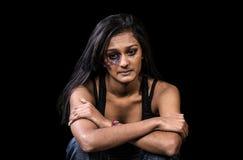 De antivrouwen misbruiken stock foto