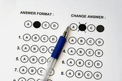 De Antwoorden van de test Stock Foto's