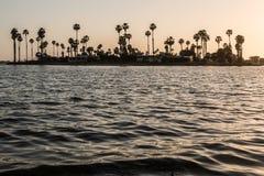 De Anza Cove en bahía de la misión en San Diego Fotografía de archivo