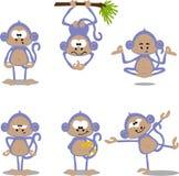 De apen van het beeldverhaal Stock Foto's