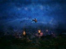 De apocalyps begon enkel met de Stad India 2020 van New Delhi Stock Fotografie