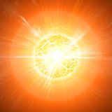 De apocalyps van de planeetexplosie Royalty-vrije Stock Foto's
