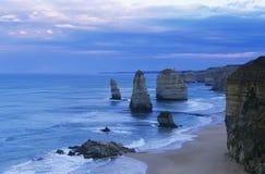 De Apostelen van Australië Victoria Great Ocean Road Twelve Stock Afbeeldingen