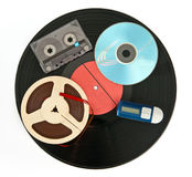 De apparaten van de muziek stock afbeelding