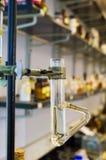De Apparaten van het Laboratorium van de chemie Stock Foto