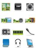 De apparatenpictogrammen van de computer Royalty-vrije Stock Foto
