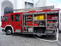 De apparatuur van de brand Stock Foto's