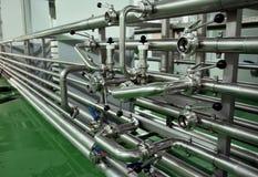 De apparatuur van de brouwerij Royalty-vrije Stock Foto's