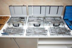De apparatuur van de chirurgie gezondheidszorggeneeskunde Royalty-vrije Stock Foto