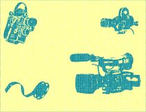 De apparatuur van de film Royalty-vrije Stock Afbeelding