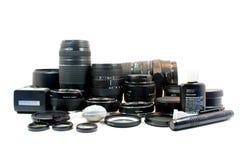 De Apparatuur van de foto Stock Afbeeldingen
