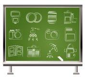 De apparatuur van de fotografie pictogrammen Royalty-vrije Stock Fotografie