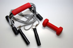 De apparatuur van de gymnastiek Stock Foto