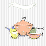 De apparatuur van de keuken royalty-vrije illustratie