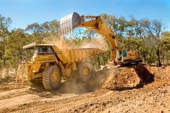 De apparatuur van de mijnbouw stock foto's