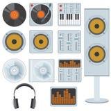 De apparatuur van de muziek. Stock Foto